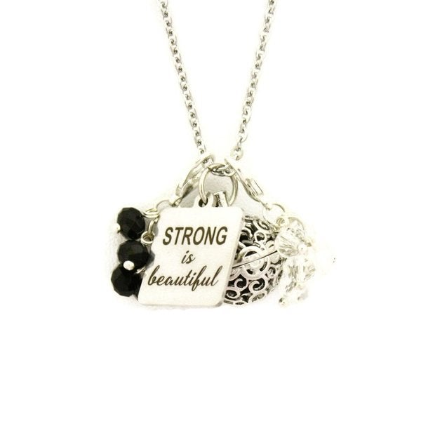 Strong is Beautiful 24-inch Essential Oil Charm Necklace. Opens flyout.