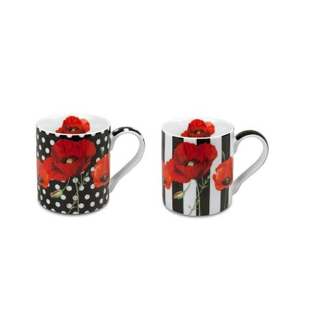 Konitz Set of 4 Assorted Madame Petite Dots and Stipes Mugs