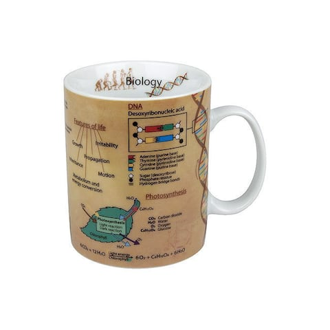 Konitz Set of 4 Mugs of Knowledge Biology