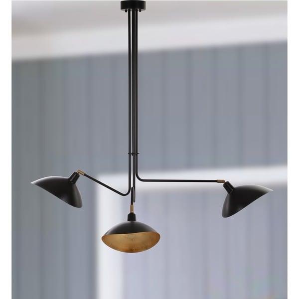 Safavieh Lighting 39-inch Lewis Black Metal Pendant Lamp