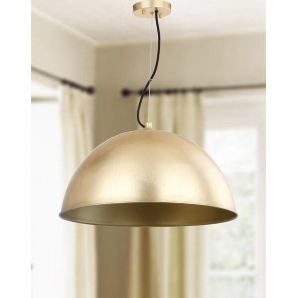 Safavieh Lighting Archer Dome Gold Leaf Adjustable Pendant