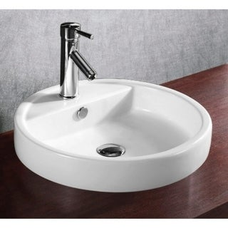 how to install a kitchen sink in a new countertop shop caracalla ca4039a one circular white ceramic 9962