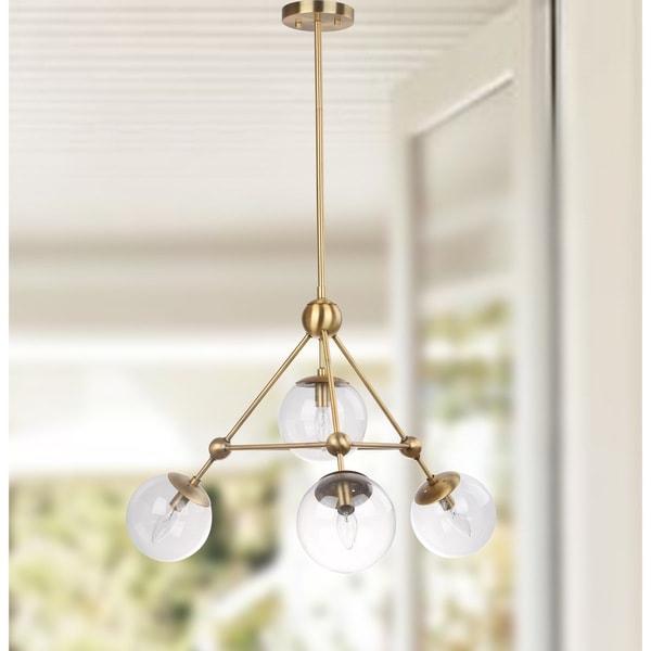 Safavieh Lighting Bain 4-light Modern Gold Orb Adjustable Pendant
