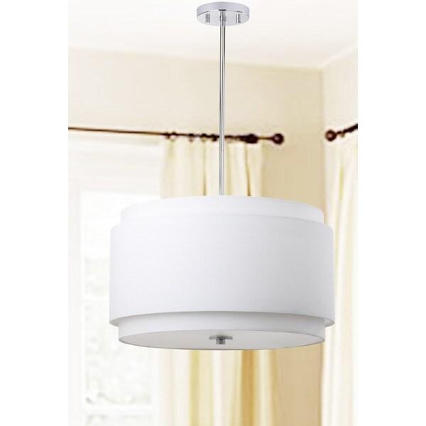 Safavieh Lighting Piran 3-light White Adjustable Pendant