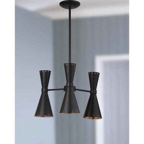 Safavieh Lighting Elisio 3-light Black Adjustable Pendant