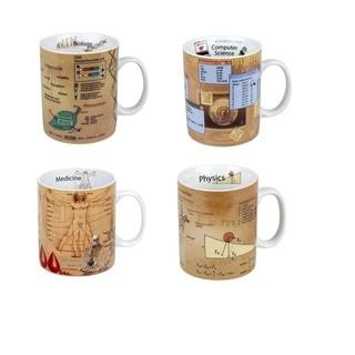 Konitz Set of 4 Assorted Mugs of Knowledge - Biology, Computer Science, Medicine, Physics