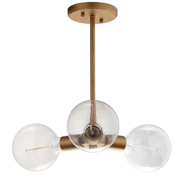 Safavieh Lighting Harkin 3-light Gold Adjustable Pendant