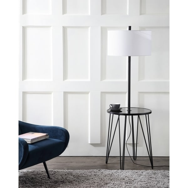 Safavieh Lighting 58-inch Ciro Side Table Floor Lamp