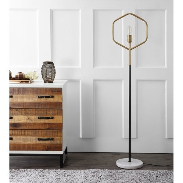 Safavieh Lighting 59-inch Brass Gold Mave Floor Lamp