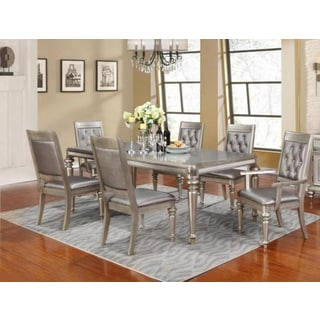 Royale Metallic Platinum Asian Hardwood 7-piece Dining Set