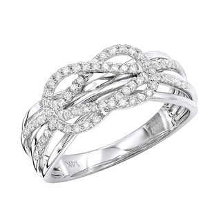 Luxurman 14K Gold Double Knot Love Diamond Ring for Women 0.27ct