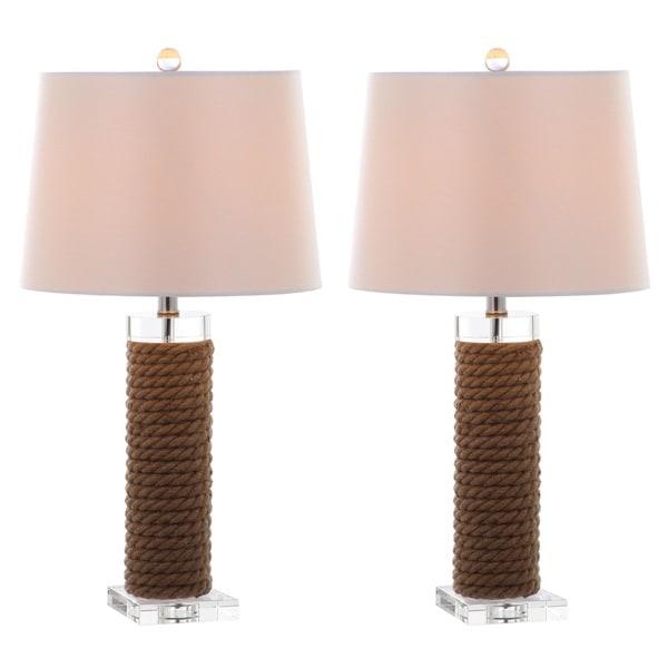 Safavieh Lighting 26.5-inch Boyd Rope Table Lamp (Set of 2)