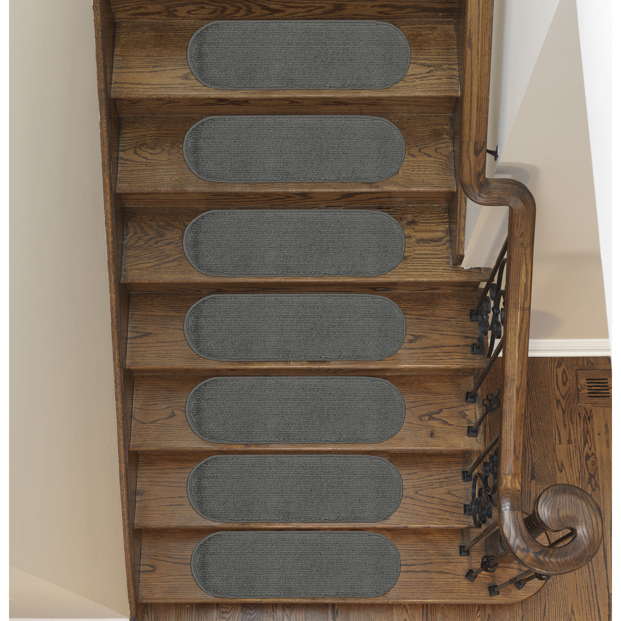 Softy Solid Design Non Slip Oval Stair Treads Set Of 7