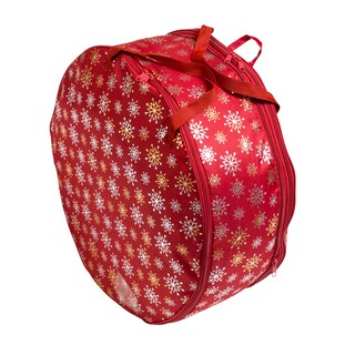 "Honey-Can-Do 36"" Wreath Red Foil"