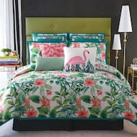 Christian Siriano Tropicalia White or Black Printed Duvet Set