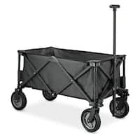 Folding Wagon (Fully Folded) - Black