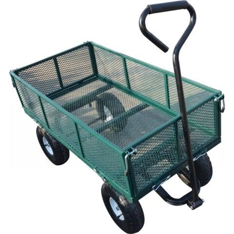 Metal Wagon in Green Mesh