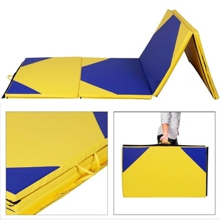 "4'x10'x2"" Gymnastics Mat Thick Folding Panel Gym Fitness Exercise"