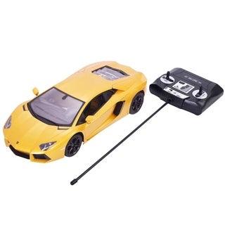1/14 Lamborghini Aventador Radio Remote Control RC Car Yellow Boy Gift