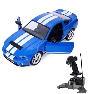 1/14 Ford Mustang Shelby Radio Remote Control RC Model Car Blue Gift