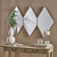 Mariel Triple Diamond Wall Mirror by Christopher Knight Home - Silver