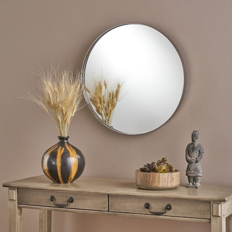 Mimi Circular Wall Mirror by Christopher Knight Home - Silver