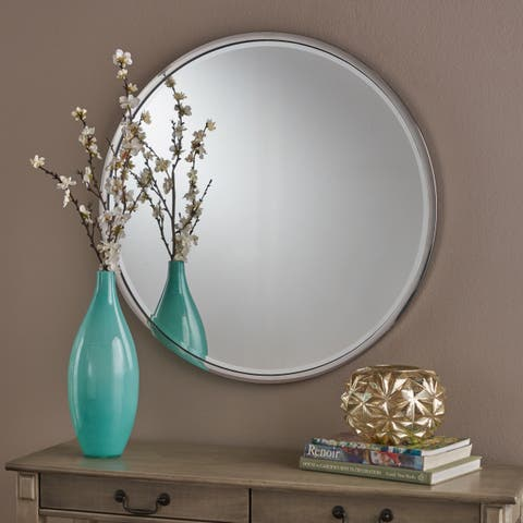 Verbena Circular Wall Mirror by Christopher Knight Home - Silver