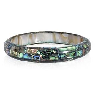 Handmade Exquisite Abalone Shell Mosaic Bangle Bracelet (Thailand)