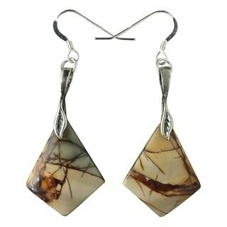 Handmade - Healing Stones for You Red Creek Jasper Earrings (USA)