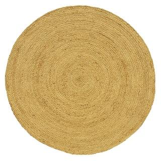 Braided Bleached Natural Jute Handmade Round Rug - 8'