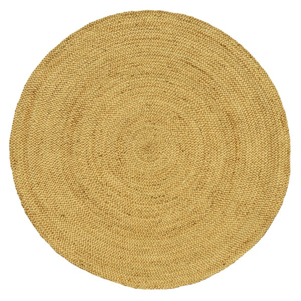 Shop Braided Bleached Natural Jute Handmade Round Rug 8