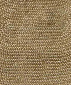 "Hand-woven Braided Bleached Natural Jute Rug (6' 6"" x 8' Oval) - Thumbnail 1"