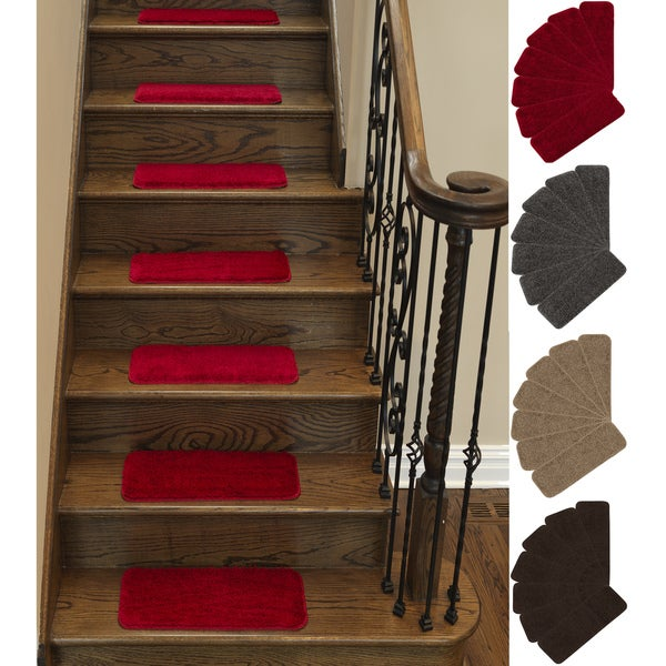 Ottomanson Comfort Collection Soft Solid Design Stair Treads (Set Of 5)   9  Inch
