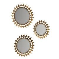 Prinz Gold Round Wall Mirror Set of 3
