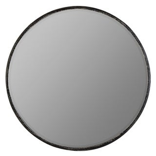 Shop Nova Round Metal Mirror Grey 24x24x3 Free