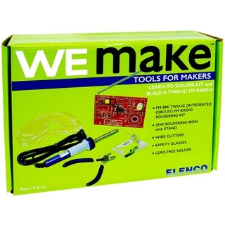 Elenco WE MAKE Learn to Solder FM Radio Kit with Tools