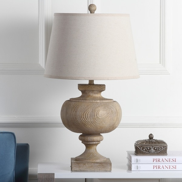 Safavieh Lighting 31-inch Prescott Light Grey Wood Table Lamp