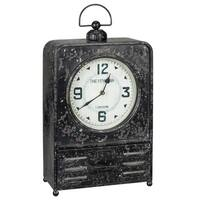 The Gray Barn Jartop Black Metal Table Clock