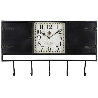 Norwood Entryway Metal Black Wall Clock