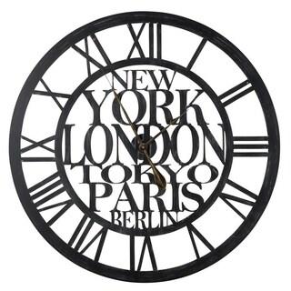 Taban Metal Round Oversized Wall Clock