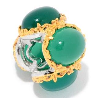 Michael Valitutti Palladium Silver Chalcedony 4-Stone Slide-on Charm (Option: Green)