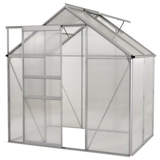 Ogrow Aluminium Greenhouse - Walk-In 6' X 4'- With Sliding Door And Double Roof Vent