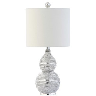 "Safavieh Lighting 20-inch Clarabel Chrome LED Table Lamp - 10""x10""x20"""