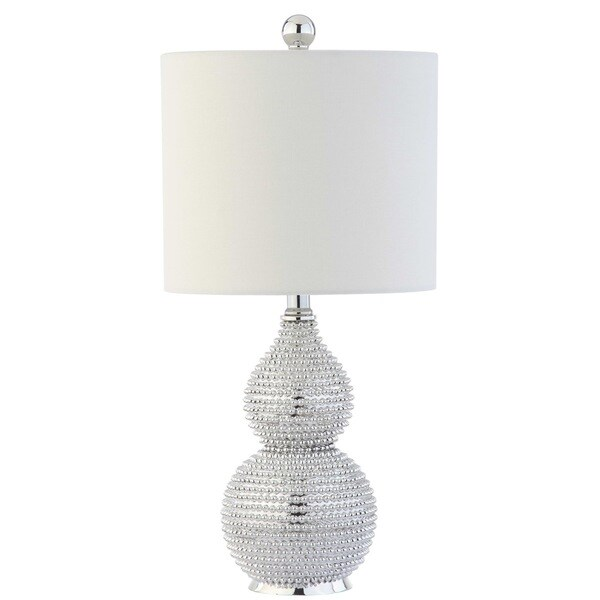 Safavieh Lighting 20-inch Clarabel Silver Chrome Table Lamp