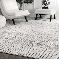 """nuLoom Contemporary Moroccan Ivory Abstract Trellis Area Rug (5' x 7' 5) - 5' x 7'5"""""""