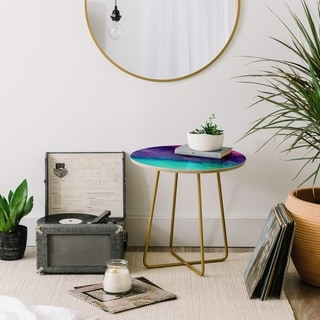 Deny Designs The Sound Marble Side Table (Round or square, 2 leg options)