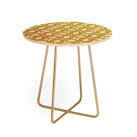Heather Dutton Starbust Gold Round Side Table