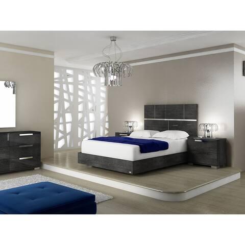 MILO Gray Birch Lacquer Queen Bed by Talenti Casa