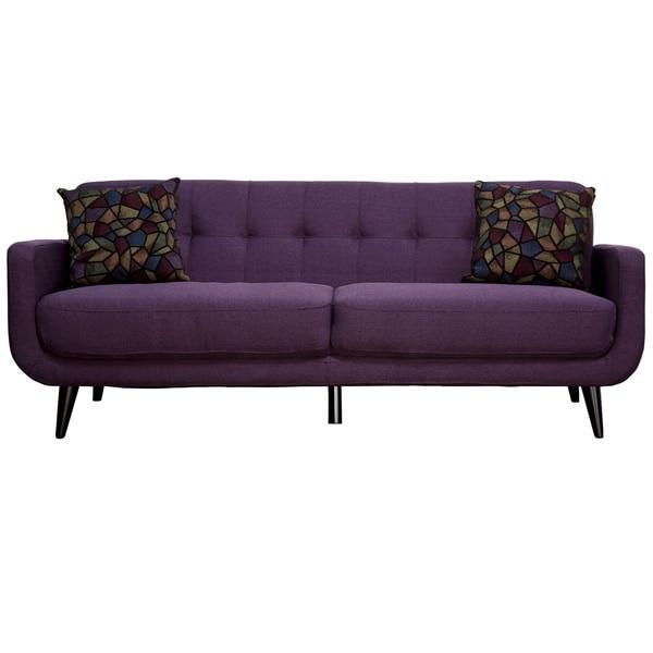 Best Master Furniture Twilight Lavender Mid Century Sofa