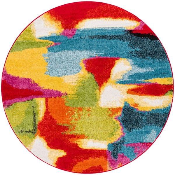 Bohemian Bright Multi Color Round Rug
